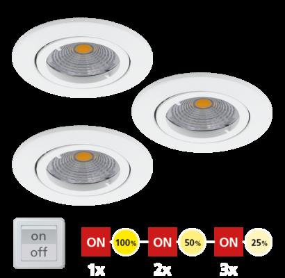 95357 EGLO TEDO 1 - LED süllyesztett lámpa 3 db-os szett