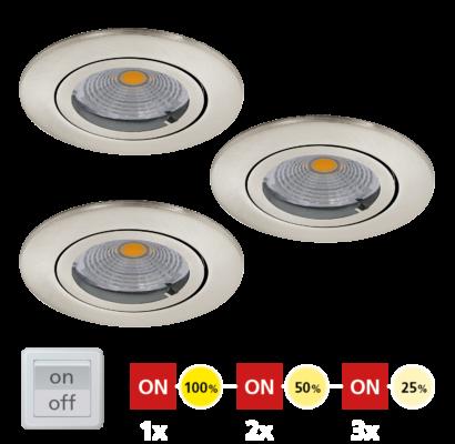 95359 EGLO TEDO 1 - LED süllyesztett lámpa 3 db-os szett