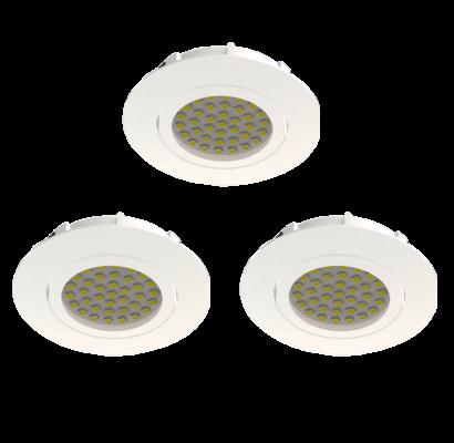 95857 EGLO PINEDA LED szabályzós süllyesztett lámpa 3 db-os szett