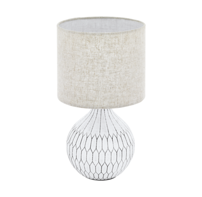 99332 EGLO BELLARIVA 3 textil asztali lámpa